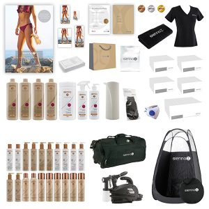 Gold Spray Tan Kit Package