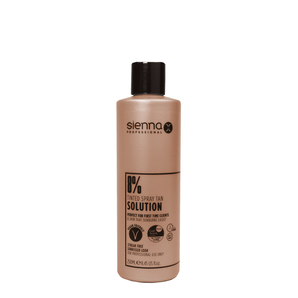 Sienna X 8% Spray Tan Solution 250ml