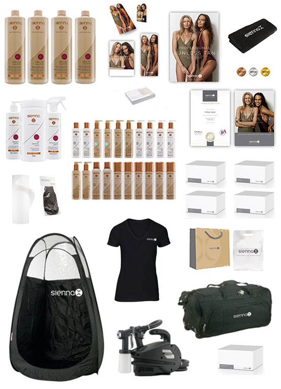 gold spray tan kit