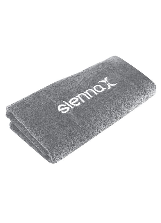 grey spa towel