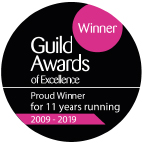 Proud Winners For 11 Years Running (2009-2019) Guild Awards Of Excellence