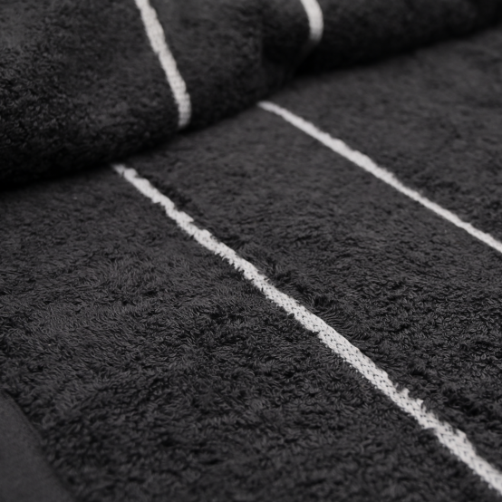 sienna x branded towel charcoal close up
